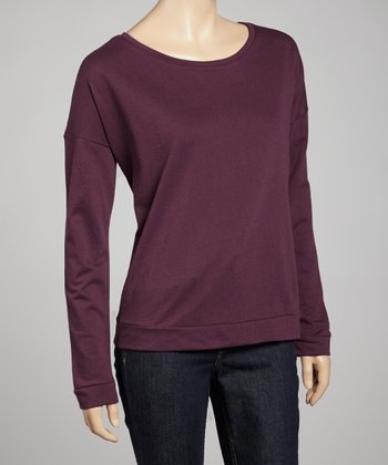 Plum Terry Long-Sleeve Tee