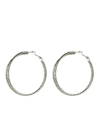 Silver Thin Twisted Hoops
