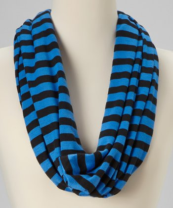 Blue & Black Infinity Scarf