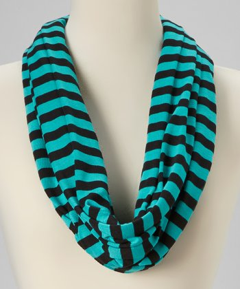 Green & Black Infinity Scarf