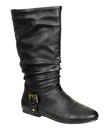 Black Buckle Tiktok Boot
