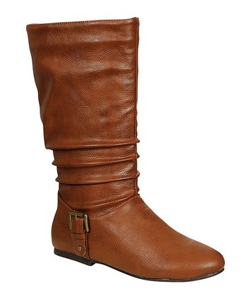 Cognac Buckle Tiktok Boot