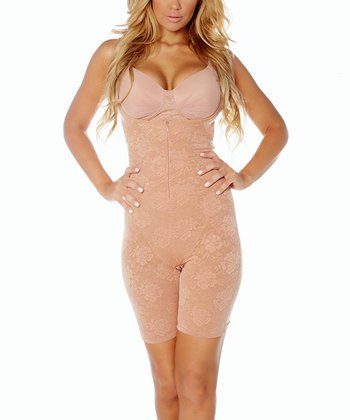 Honey Lace Mesh Under-Bust Shaper Bodysuit - Women