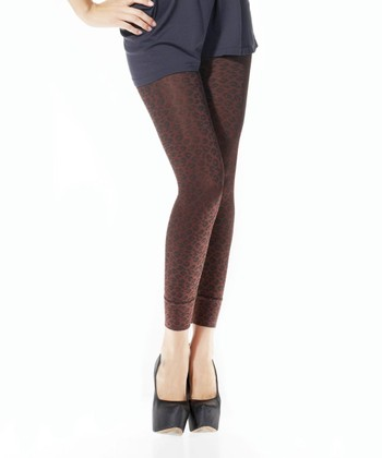 Black Leopard High-Waisted Shaper Leggings - Women & Plus