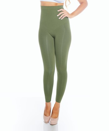 Olive High-Waisted Shaper Leggings - Women & Plus