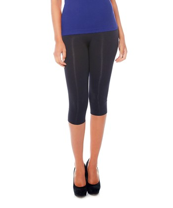 Back High-Waisted Capri Shaper Leggings - Women & Plus