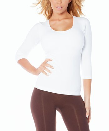 White Ahh Built-In Bra Tee - Women & Plus