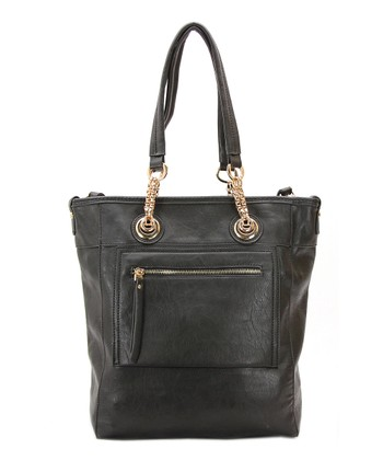 Black Two-in-One Zoey Tote