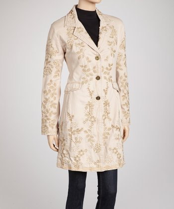 Natural Wild Blossom Embroidered Coat