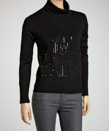 Black Sequin Turtleneck