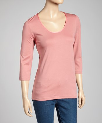 Rose Classic-Fit Three-Quarter Sleeve Top