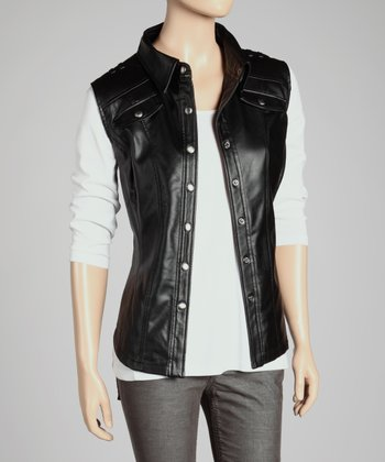 Black Button-Up Vest