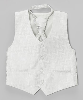 Silver Wave Vest & Tie - Toddler & Boys
