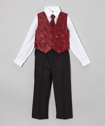 LA Sun Burgundy Vest Set - Infant, Toddler & Boys