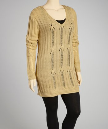 Stone V-Neck Sweater - Plus