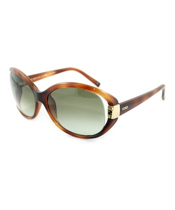Light Havana Cutout Sunglasses