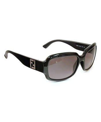 Black Logo Rectangle Sunglasses