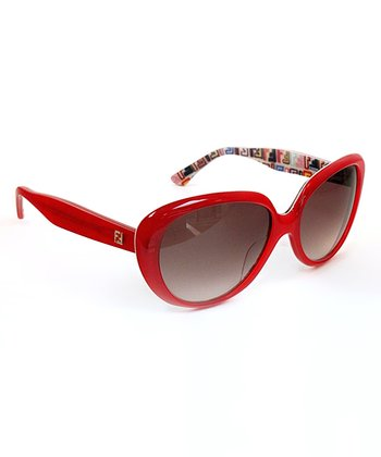 Light Red Cat-Eye Sunglasses