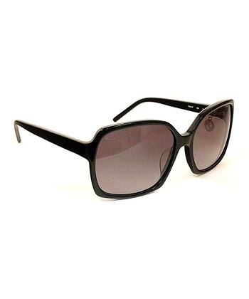 Black Thin Frame Square Sunglasses