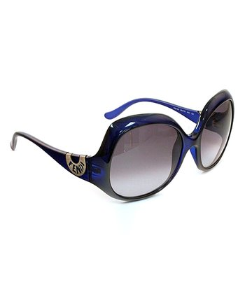 Blue Crystal Butterfly Sunglasses