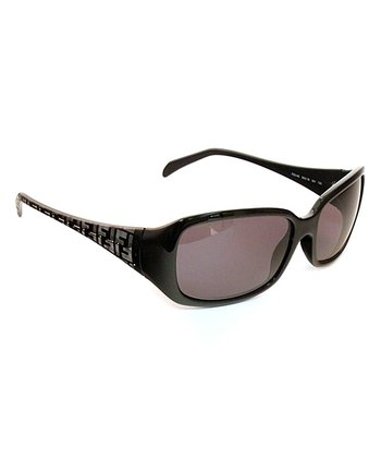 Black Logo Arm Sunglasses