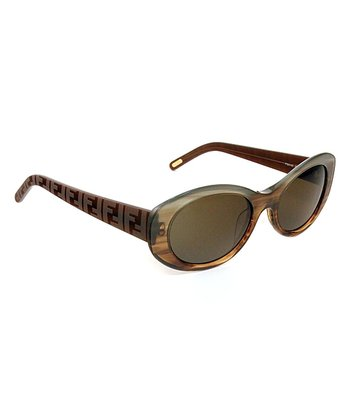 Gray & Brown Cat-Eye Sunglasses