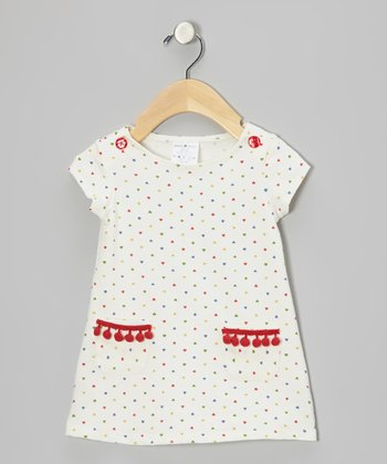 White & Red Heart Dress - Infant, Toddler & Girls