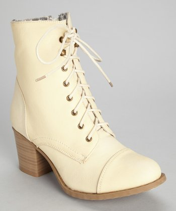 Cream Karolina Ankle Boot