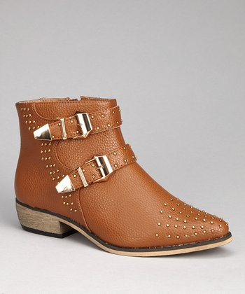 Cognac Alicia Ankle Boot