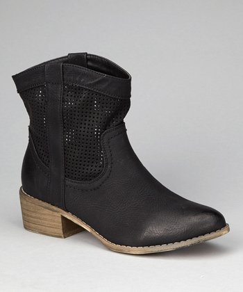 Black Kenelly Studded Ankle Boot