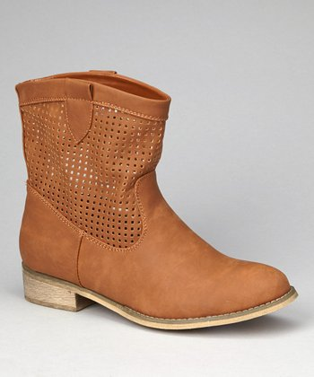 Cognac Nora Ankle Boot