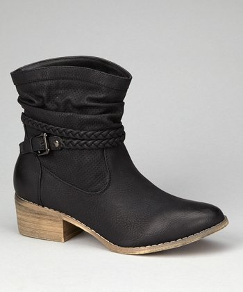 Black Pike Ankle Boot
