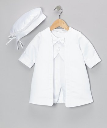 Montreal White Christening Romper Set - Infant & Toddler