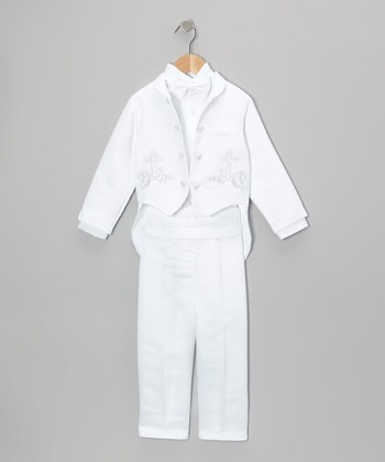 White Christening Suit Set - Infant, Toddler & Boys