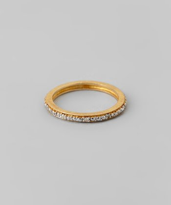 Sparkle & Gold Channel Ring