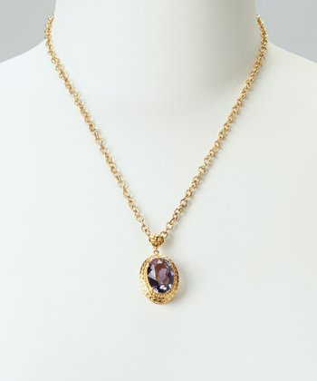 Tanzanite & Gold Pendant Necklace