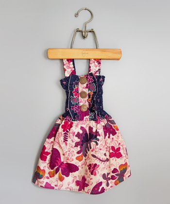 Cream & Berry Dragonfly Dress - Infant & Toddler