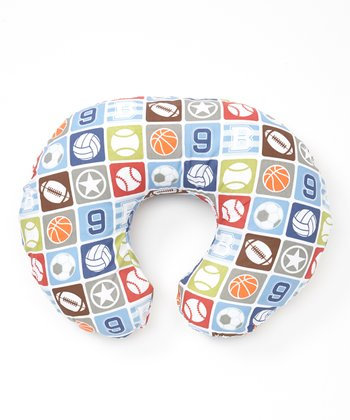 Blue Sports Star Feeding Support Pillow