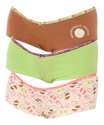 Lime & Tan Maternity Boyshorts Set