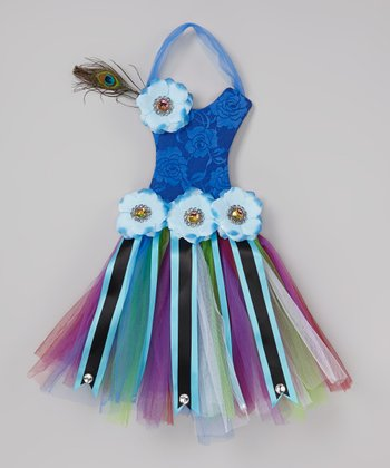 Purple Peacock Tutu Bow Holder