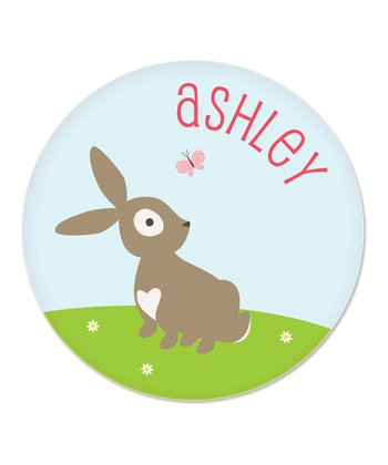 Bunny Personalized Plate
