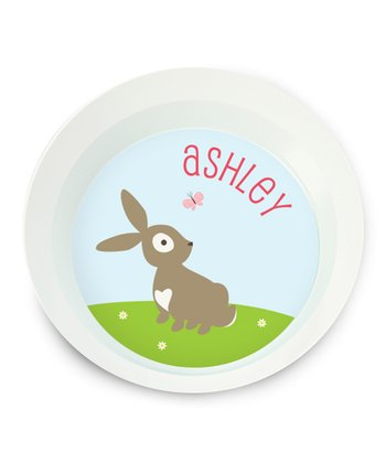 Bunny Personalized Bowl
