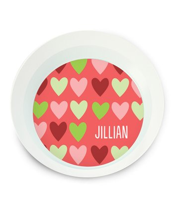 Hearts Personalized Bowl