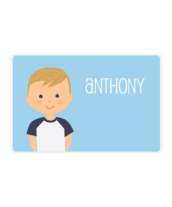 Dark Blonde Boy Personalized Place Mat