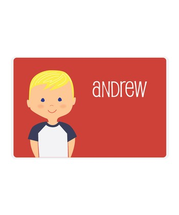 Blonde Boy Personalized Place Mat