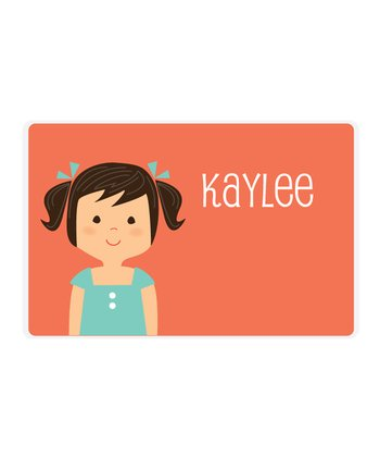 Black-Haired Pigtails Girl Personalized Place Mat