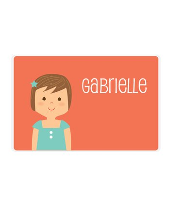 Brown-Haired Girl Personalized Place Mat