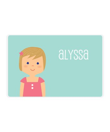 Dark Blonde Girl Personalized Place Mat