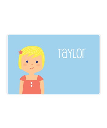 Blonde Girl Personalized Place Mat