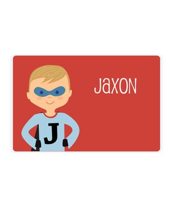 Dark Blonde Superhero Personalized Place Mat